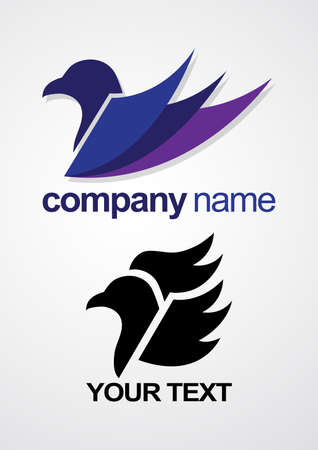Bird icon for business symbol.