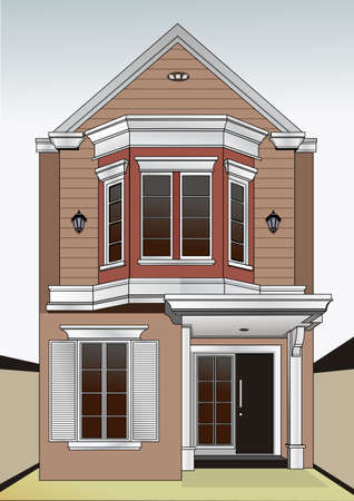 luxury home with a classic touch Illustration