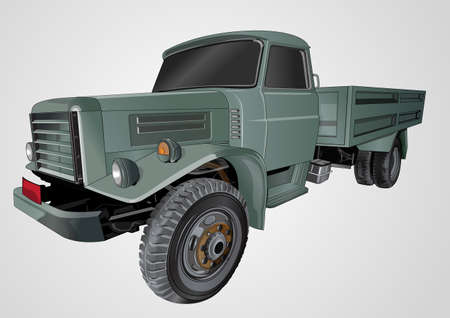 army combat trucks Illustration