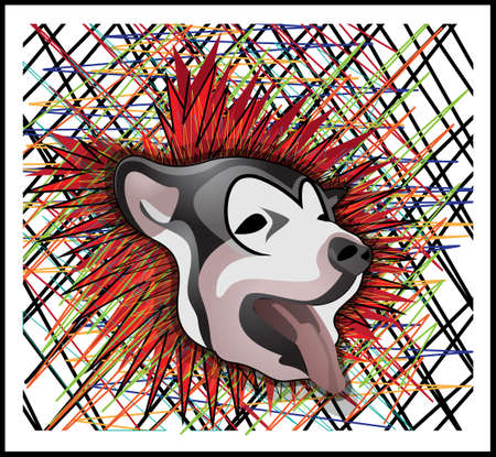 abstract background with dog head Illustration