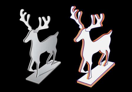three-dimensional deer design