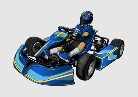 high speed karting racing