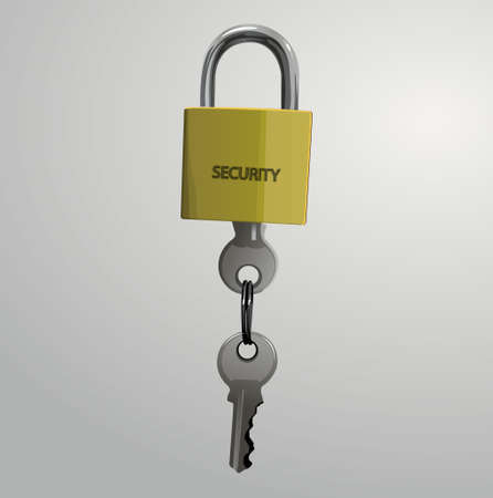 the padlock key Ilustracja