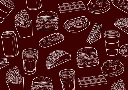 fast food that makes your stomach swell Illustration