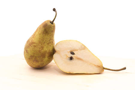 Pear in a cut isolated on a white background for any purpose Stock Photo