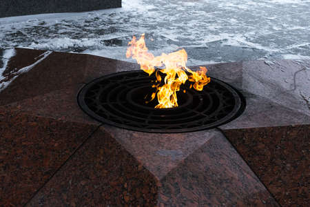 Eternal flame in the memorial complex for any purpose