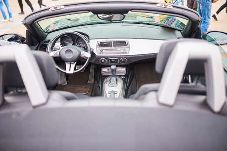 Open sports car interior for any purpose Stock Photo