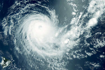 Atmospheric cyclone from space. Elements of this image were furnished by NASA. For any purpose.