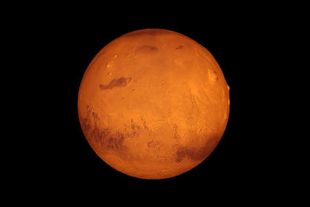 Planeta Mercurio, sobre un fondo negro. Foto de archivo