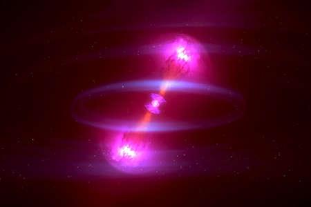 Two neutron stars.