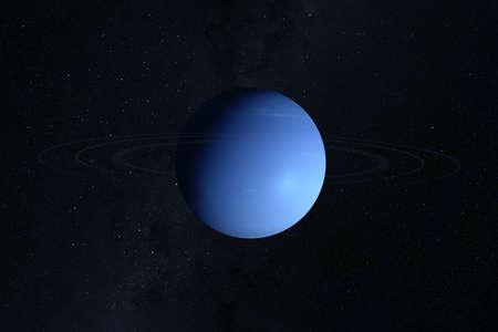 Planet Neptun, auf dunklem Hintergrund. Standard-Bild