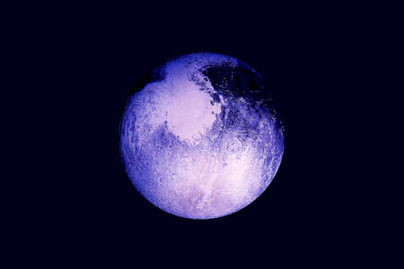 Pluto in ultraviolet light. Elements of this image were furnished by NASA. For any purpose. Reklamní fotografie