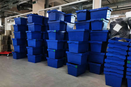 Lots of plastic boxes with shoe blanks. For any purpose.