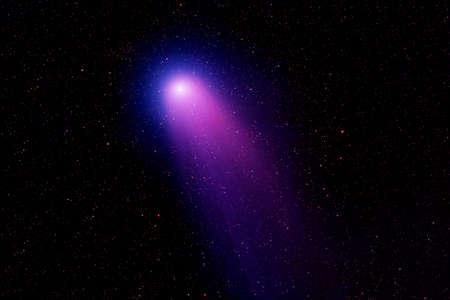 Comet in a dark space. Banque d'images
