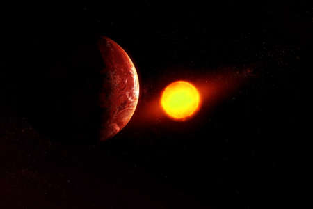 Exoplanet in deep space. Banque d'images