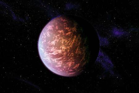 Exoplanet in a far dark space.
