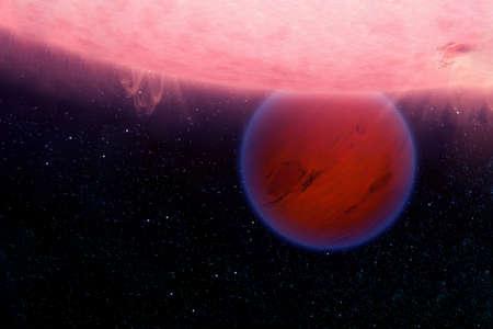 Fantastic hot planet. Banque d'images