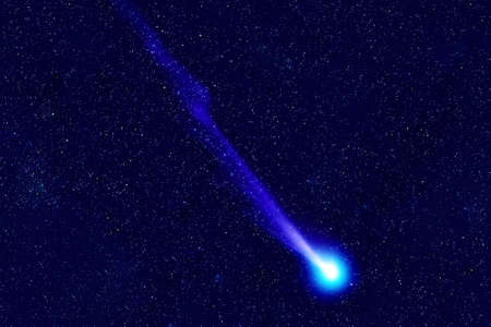 Comet on the background of space.