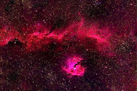 Red space nebula. Banque d'images