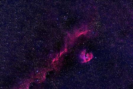 A beautiful colored galaxy.