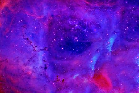 Blue galaxy with stars.