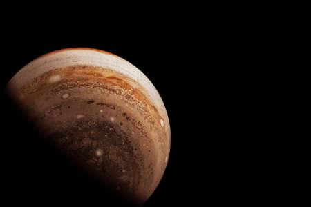Planet Jupiter on a dark background.
