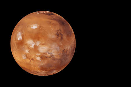 Planet Mars on a black background. Elements of this image were furnished by High quality photo