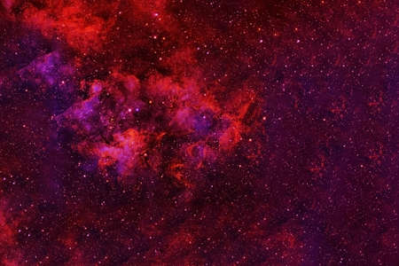 Space in red colors.