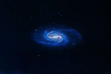 Spiral galaxy on a dark background.