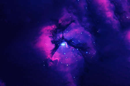 Beautiful colored galaxy on a dark background.