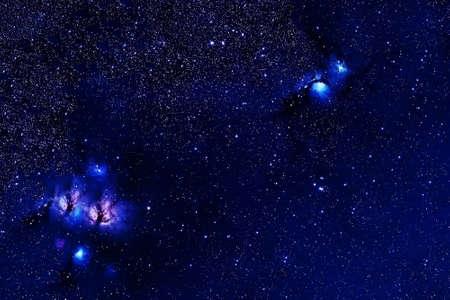 A beautiful, bright space nebula.