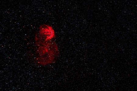 Galaxy in red colors. Foto de archivo