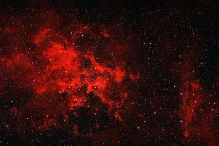 Bright red space nebula.