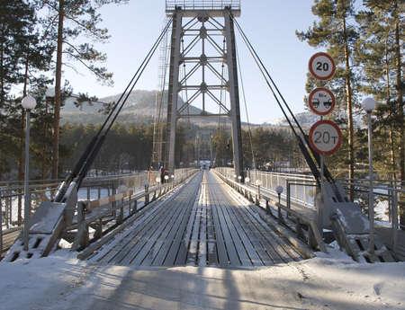 necessity: River bridge Stock Photo
