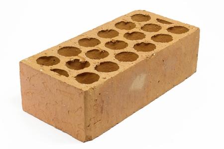 One brick isolated on white Stock Photo - 19287531
