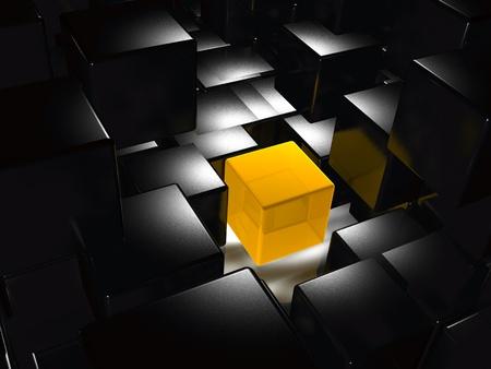Resumen de antecedentes - amarillo y negro de cubos. Foto de archivo - 10628237