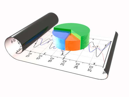 Business picture about analysis - graph and chart.