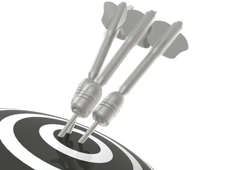 exactness: Grey arrows on the target, white background.
