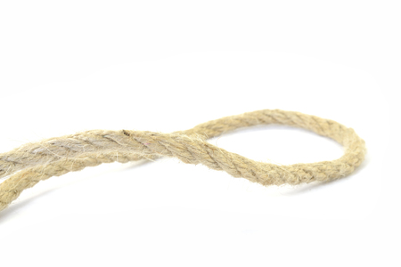 Rope segment on the white background.