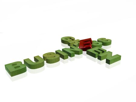 Letters on the white background, 3D illustration.