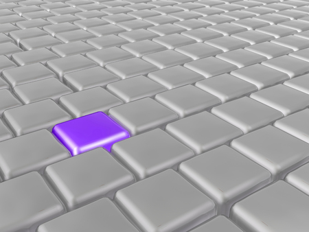 Purple and grey cubes as abstract background, 3D illustration. Stock Photo