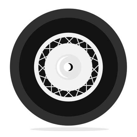 cartwheel: Retro wheel isolated