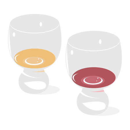 Two glasses with wine Illustration