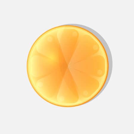 Orange glass glow slice isolated.Vector illustration Illusztráció