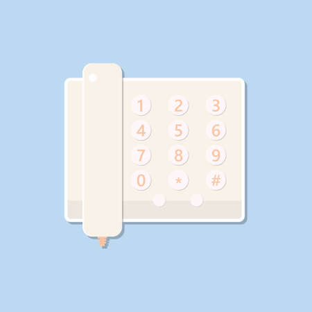 Office phone isolated on blue background.Business communication
