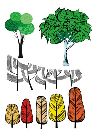 Trees collection Stock Vector - 6659019