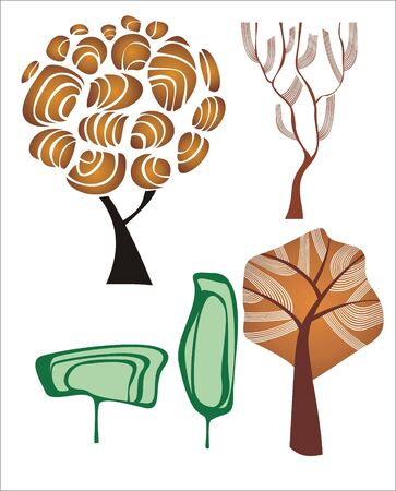 set of creative trees. Stock Vector - 6697899