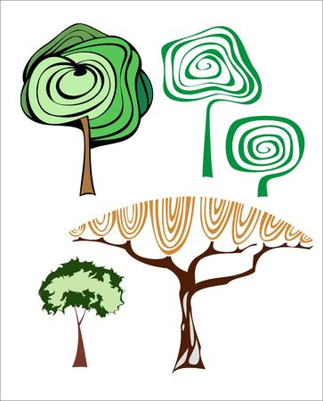set of creative trees. Stock Vector - 6697890
