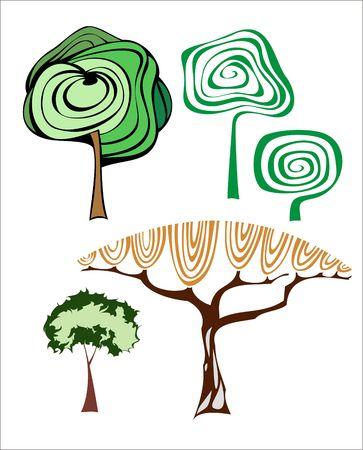 set of creative trees. Stock Vector - 6697890