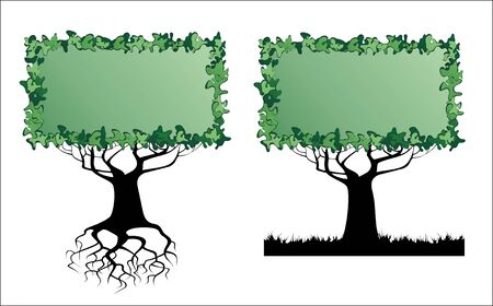 Tree - banner with an empty space for your text Stock Vector - 6747496
